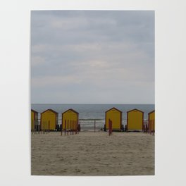 Yellow Huts on the Seashore Poster