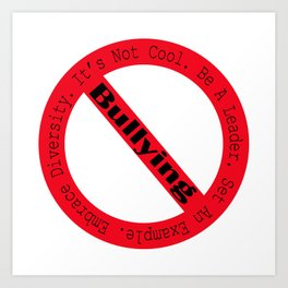 Stop Bullying-Logo Art Print