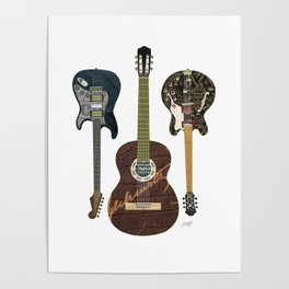 Guitar Collage Poster
