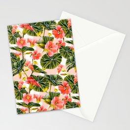 Flowering garden nasturtiums Stationery Cards
