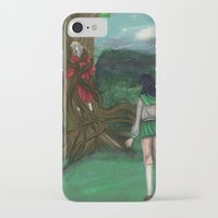inuyasha iPhone & iPod Cases featuring Inuyasha and Kagome by Creativelea