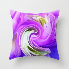 308 - Flowers abstract design Throw Pillow