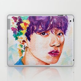 Jungkook et les fleurs Laptop & iPad Skin