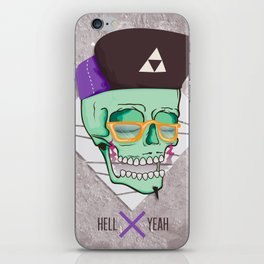 Hell Yeah Skull 3 iPhone Skin