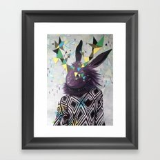 Dark Rabbit Framed Art Print