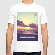 What a wonderful world Mens Fitted Tee White MEDIUM