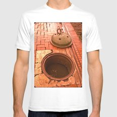 SEWER FILTH Mens Fitted Tee White MEDIUM