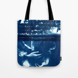 Fragments of the Past (12), art print, collage, blue print, wall art, wall decor, home decor Tote Bag
