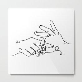 Sign language of love Metal Print