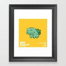 001 Bulbasaur Framed Art Print