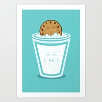 hot Art Prints featuring Hot Tub Cookie by Teo Zirinis