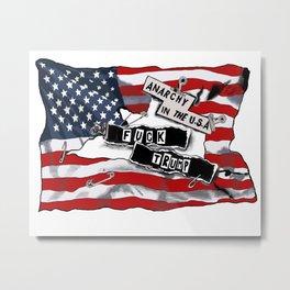 Fuck Trump Metal Print