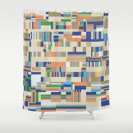 Chromatetude (Soft Colours) Shower Curtain
