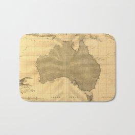 Vintage Map of Australia (1808) Bath Mat