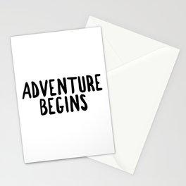 Adventure Begins, Adventure Art, Typography Art, Adventure Quotes Stationery Cards