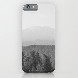 Lookout Ridge - Black and White Mountain Nature Photography iPhone Case