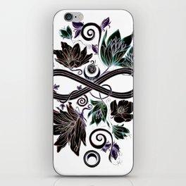 Infinity Moon Garden in Pastel at Midnight iPhone Skin