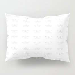 Paper boat pattern grey Pillow Sham