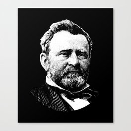 President Ulysses Grant Graphic Canvas Print