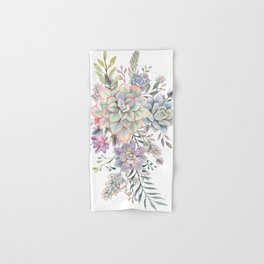 succulent watercolor 8 Hand & Bath Towel