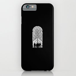 Minimalistic Louvre - Low Key Black and white Photography  iPhone Case