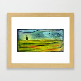 Cypress Wind Framed Art Print