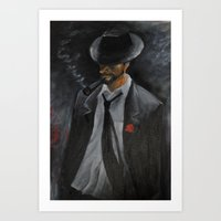men Art Prints featuring Men by Anja Kidrič AdAk