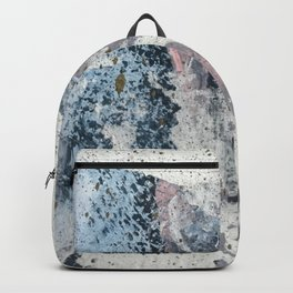 To the Mountains: a minimal abstract mixed-media piece by Alyssa Hamilton Art Backpack