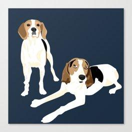 Tree Walker Coonhounds Canvas Print