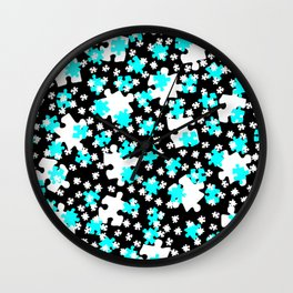 DT PUZZLE SCATTER 5 Wall Clock