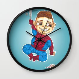 Hanging with Spidey Wall Clock