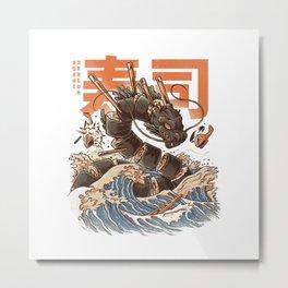 Great Sushi Dragon Metal Print