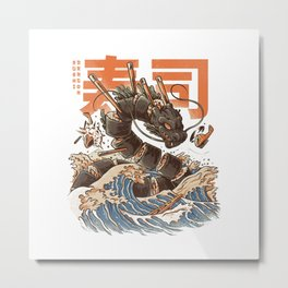 Great Sushi Dragon Metal Print