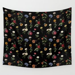 Vertical Garden (Black) Wall Tapestry