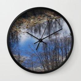 Winter reflections Wall Clock