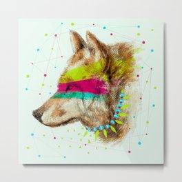 Cherokee Wolf II Metal Print