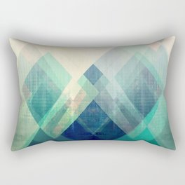 Mountains print, Abstract print, geometric wall art, abstract mountain, minimalist art, modern art, Rectangular Pillow