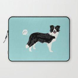 Border Collie dog breed funny dog fart Laptop Sleeve