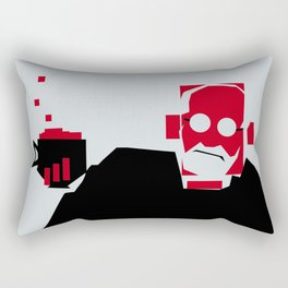Tea and Crumpets with Freud Rectangular Pillow