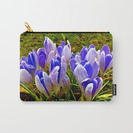 Blue Purple Crocuses Carry-All Pouch
