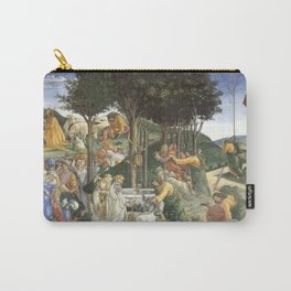 """Sandro Botticelli """"Youth of Moses"""", Sistine Chapel. Carry-All Pouch"""