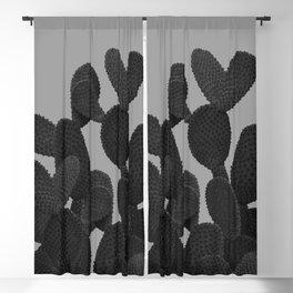 Gray Black Cactus #1 #succulent #decor #art #society6 Blackout Curtain