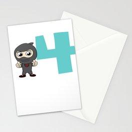 Birthday Ninja Party 4th Samurai Ninjas Gift Japanese Ninja stars Fighter Gift Stationery Cards