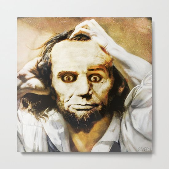 Abraham Lincoln's bewilderment Metal Print