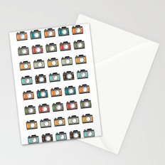 Colourful Camera Icons Stationery Cards