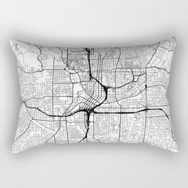 Atlanta Map White Rectangular Pillow