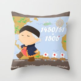 Columbus (Cristóbal Colón) Throw Pillow