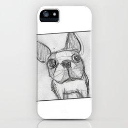 Boston terrier selfie iPhone Case