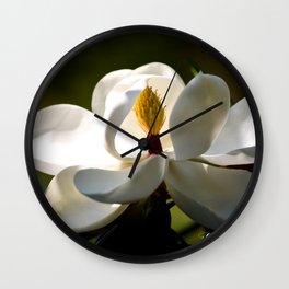 Magnolia Bloom Wall Clock