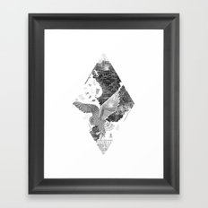 OWL MAP Framed Art Print